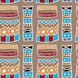 African pattern. Artistic fabric material texture. Seamless background Royalty Free Stock Photography