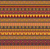 African pattern. Amazing african vector seamless pattern with geometric elements Royalty Free Stock Images