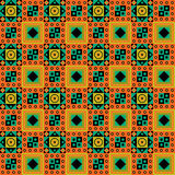African Pattern Design. Typical seamless african tribal pattern with earth colours Royalty Free Stock Images