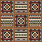 African pattern 1. Geometrical abstract pattern from decorative ethnic ornament elements .  African, Mexican, Turkmen texture (background) for packing, textile Royalty Free Stock Photography