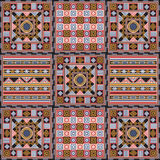 African pattern 3. Geometrical abstract pattern from decorative ethnic ornament elements .  African, Mexican, Turkmen texture (background) for packing, textile Stock Photos