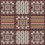 African pattern 5. Geometrical abstract pattern from decorative ethnic ornament elements .  African, Mexican, Turkmen texture (background) for packing, textile Stock Images