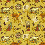 African pattern. Seamless pattern with elements of african culture Royalty Free Stock Photo