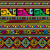 African pattern. Seamless vector background with color african ornament stock illustration