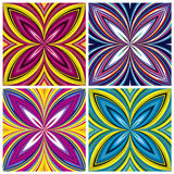 African Pattern Set. Stylish trendy textile design in vivid and lucid colors, seamless Royalty Free Stock Image