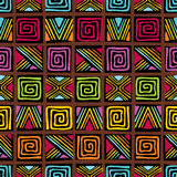 African pattern. Vector seamless pattern with african ornament Royalty Free Stock Image