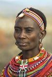 African People 12. Woman of the Samburu tribe in her village near Samburu National Park. Central Kenya Royalty Free Stock Photography