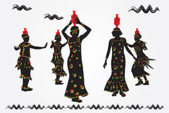 African people dance folk dance. Royalty Free Stock Photography