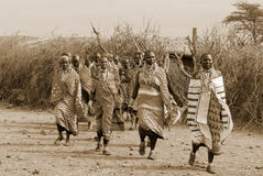 African people from Masai tribe Royalty Free Stock Images