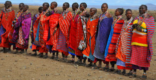 African people from Masai tribe Royalty Free Stock Photos