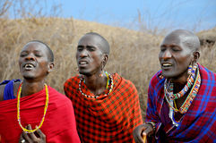 African people from Masai tribe Royalty Free Stock Photography