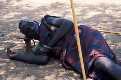 African people: Senior Pokot shepherd Royalty Free Stock Photography