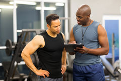 African personal trainer Royalty Free Stock Images