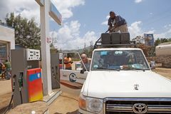 African petrol station Stock Photos