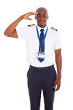 African pilot saluting Stock Images