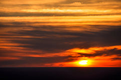African plains sunset Stock Photo