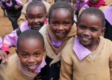 African little children at school. African poor black little children boys and girls at school Stock Photos