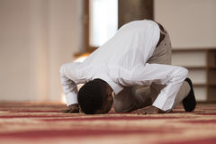 African Prayer At Mosque Royalty Free Stock Images
