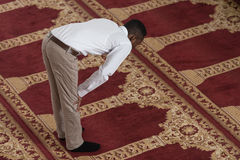 African Prayer At Mosque Royalty Free Stock Image