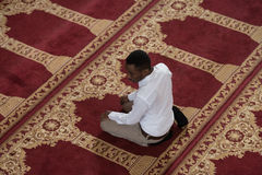 African Prayer At Mosque Stock Images