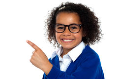 African primary girl showing the way Stock Images