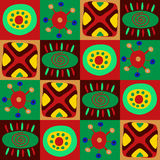 African primitive pattern in squares Royalty Free Stock Photos