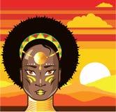 African Princess illustration Stock Photography