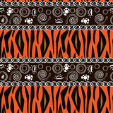 African print with tiger skin pattern Stock Photography