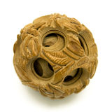 African Puzzle Ball. Vintage African wooden finger puzzle ball Stock Photo