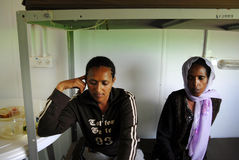 African refugee detention centre Stock Image