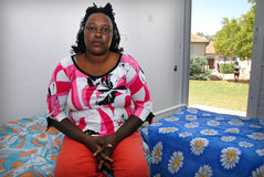 African refugees in Israel. KIBUTZ IBIM, ISR - JULY 10:African refugee woman in Kibutz Ibim on July 10 2007.There are currently an estimated 60,000 African stock photos