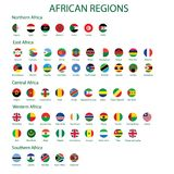 African region flags royalty free illustration