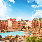African resort with luxury swimming pool. Egypt Stock Images