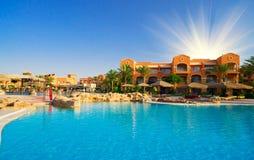 African resort, swimming pool. Stock Image