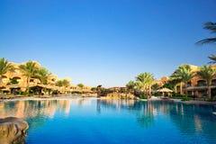 African resort, swimming pool. Stock Photos