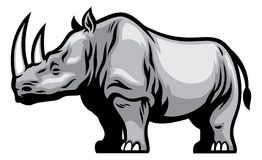 African Rhino. Vector of African Rhino mascot Stock Photos