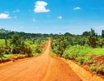 African road Royalty Free Stock Photo