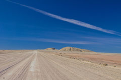 African road in desert Royalty Free Stock Image
