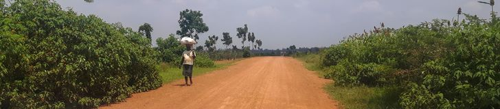 An african road. royalty free stock photos