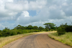 African road in savanna, South Africa Royalty Free Stock Image
