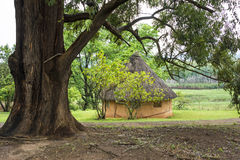 African round hut Royalty Free Stock Photo