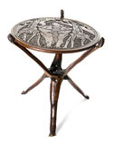 African round table. Handmade african round table of rosewood Stock Photo