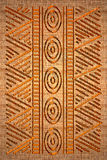African rug. Old canvas texture with african drawing Royalty Free Stock Images