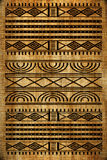 African rug. Old canvas texture with african drawing Stock Photos