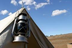 African safari. A close up shot of a tent on an African safari Stock Images
