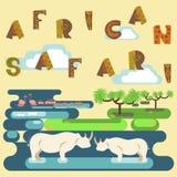African safari concept Royalty Free Stock Photos