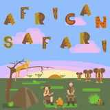 African safari concept Stock Photography