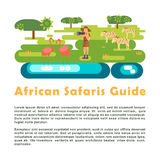 African safari guide illustration Stock Images