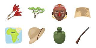 African Safari icons in set collection for design.   Stock Images