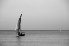 African sailboat Stock Image